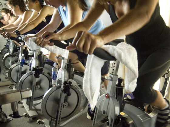 Spin Class is a great example of aerobic exercise.