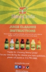 flyer that accompanies the cleanse